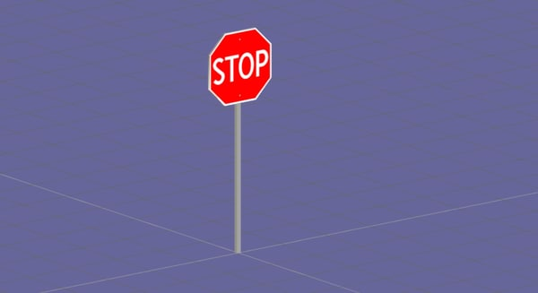 free stop sign 3d model