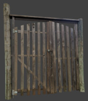 wooden gate 3d 3ds