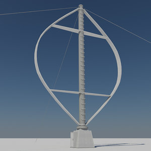 3d - vertical wind turbine