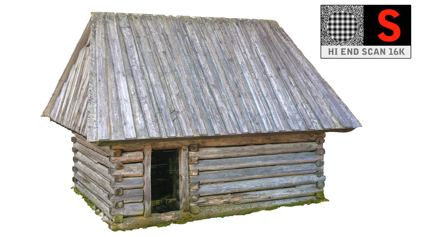 3d country cottage model