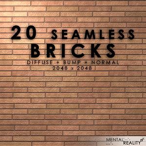 20 High Resolution Seamless Brick Textures