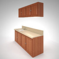 Kitchenette Counter Sink and Cupoards