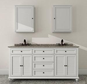 3d bathroom wash-basin