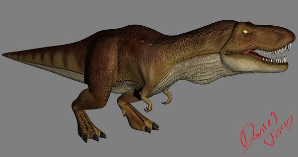 rex t-rex 3d max