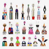 Vitra Wooden Dolls Full Set