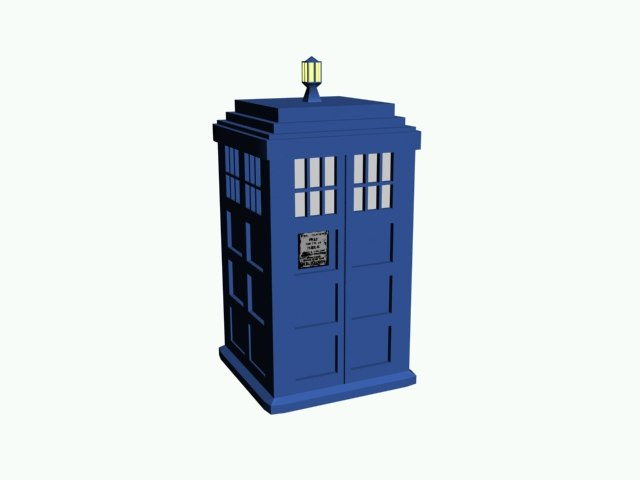 tardis time doctor 3d 3ds