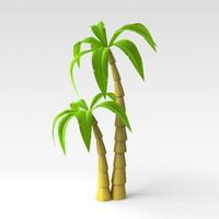 3d palm tree