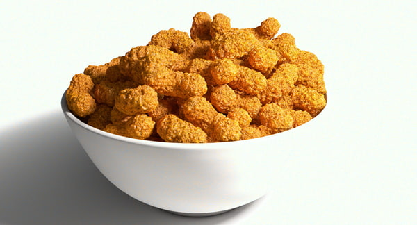 3d bowl roasted snacks