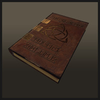 3d leather book