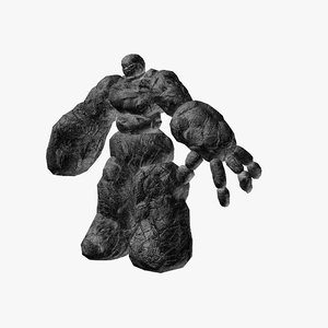 stone golem rocks 3d obj