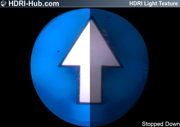 HDR Light Stairs Arrow Up Blue