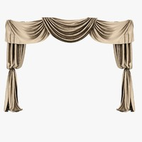 3ds max brown silk curtain