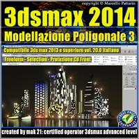 3ds max 2014 Modellazione Poligonale v.20 Italiano CD Front