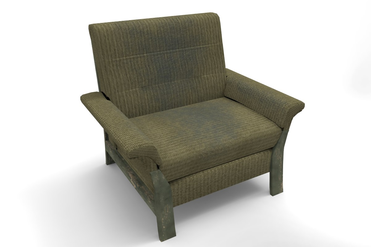 3dsmax green armchair