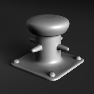 3d model of marine bollard