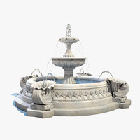3d max fountain exterior water