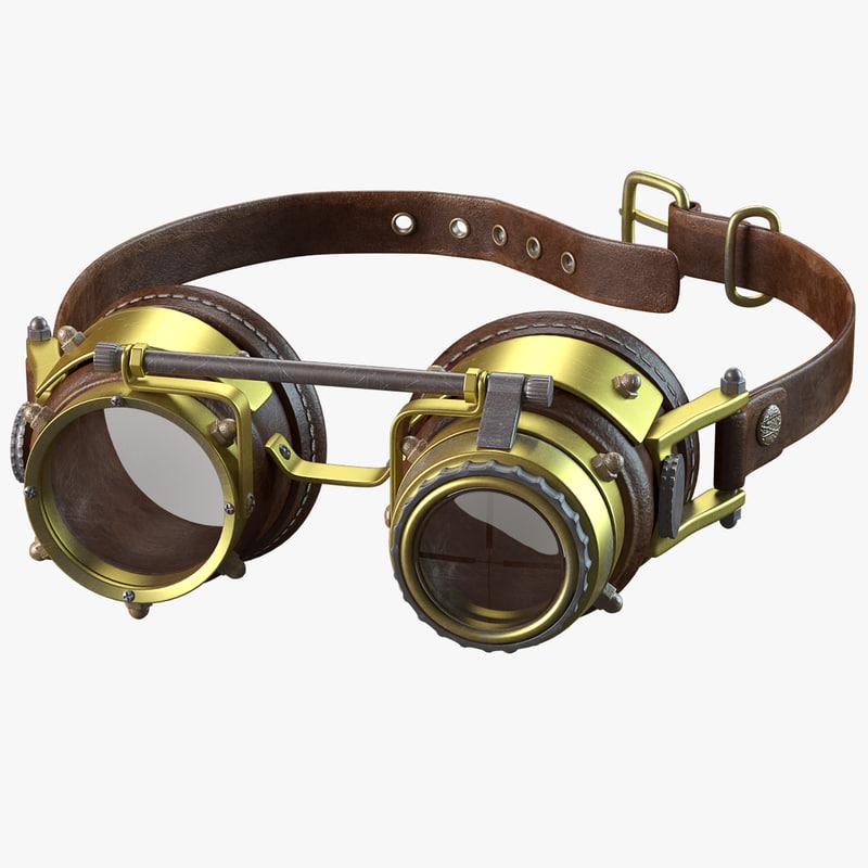 3d max steampunk goggles