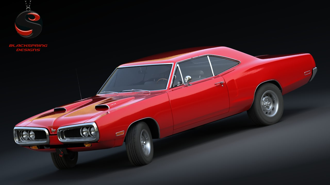 3d dodge coronet super bee