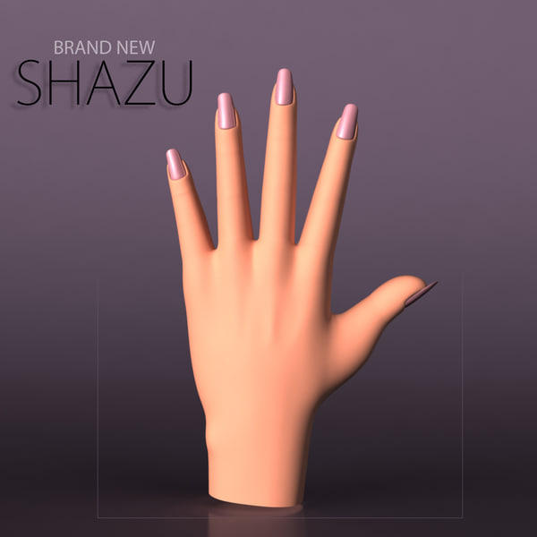 female hand 3d obj