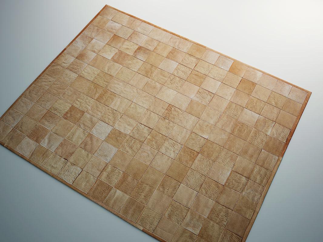 3d model rug