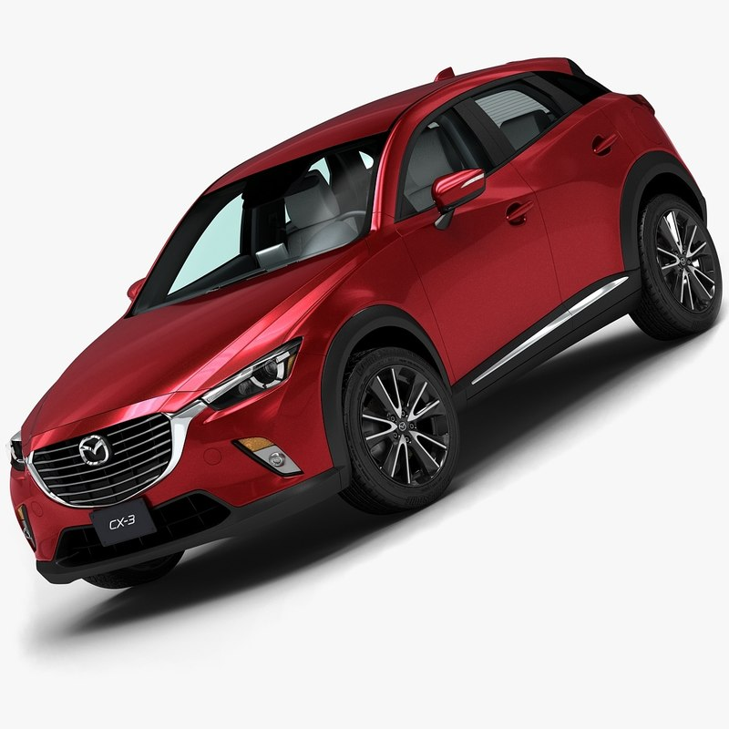 2016 Mazda Cx-3 3d Model