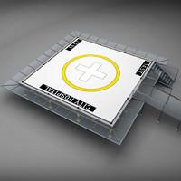 squared pad 3d model