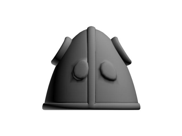 3d helmet monster model