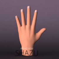 3d 3ds male hand