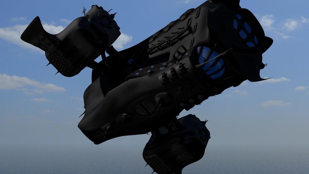 alien spacecraft c4d