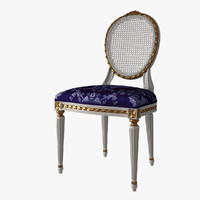 French Louis XVI Oval Dining Chair Cane