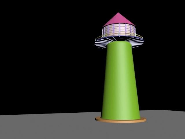 3d light house model
