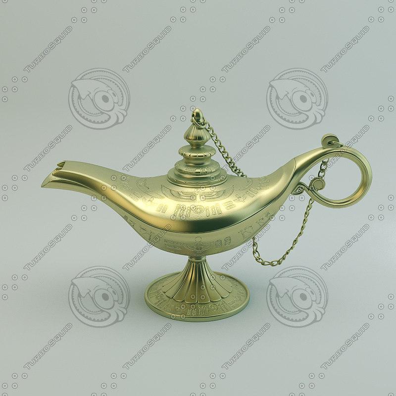 3ds max aladdin magic lamp