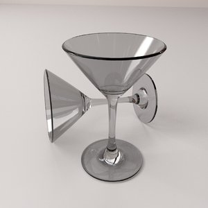 martini glass 3d 3ds
