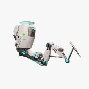 3ds max robotic arm