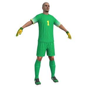 3d soccer goalkeeper model