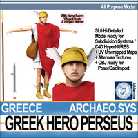 3ds ancient greek hero perseus