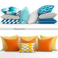3d 2 sets pillows model
