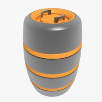 container barrel 3d max
