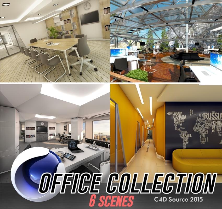c4d office interior