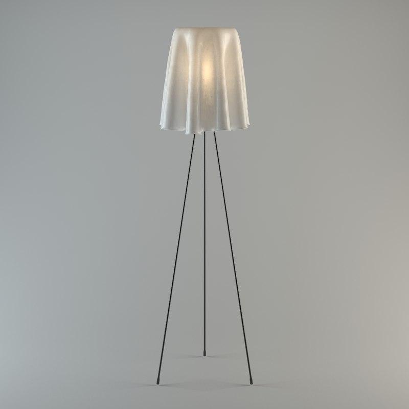 3d model standing floor lamp