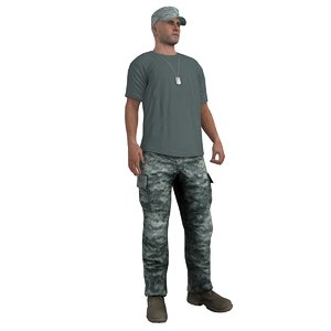 rigged soldier 3d max