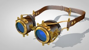 steampunk goggles 3d c4d