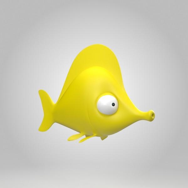 3d yellow tang