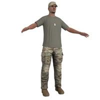 soldier hat 3d max