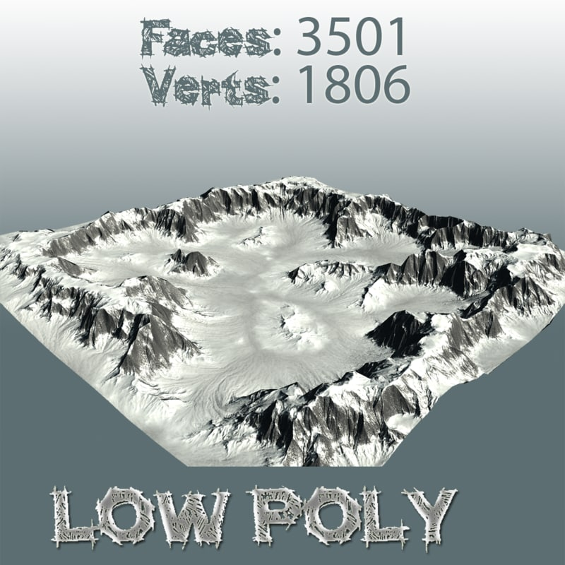 maps mountain 3d model