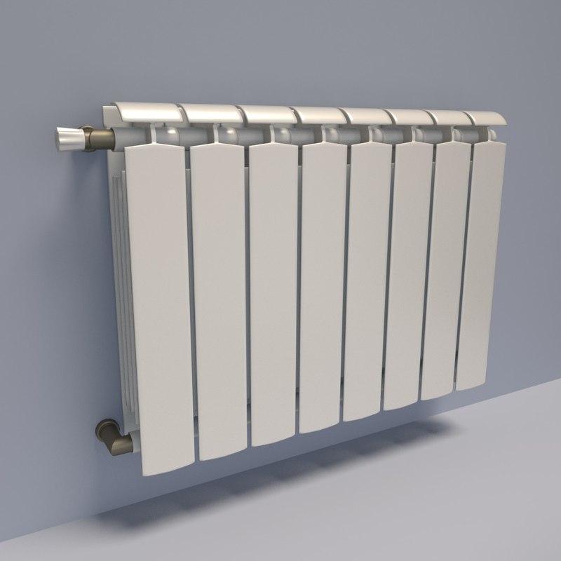 radiator heater 3d obj