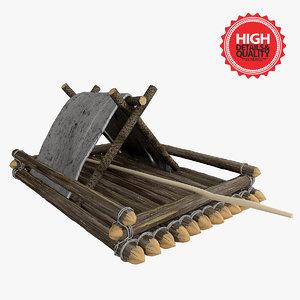 3d raft boat model
