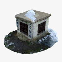 3d model of old ventilation shaft