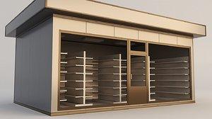 3D building store shop model