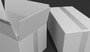 box cardboard card 3D